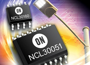 Offline LED driver NCL30051 and dimmable constant current driver NCL30160 by ON Semiconductor