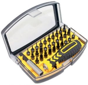Security Bit Precision Screwdriver Set T2 T3 T4 T6 to T30 and Extension 32pcs