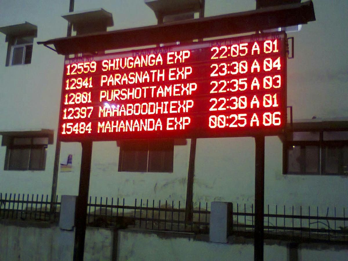 Led Display Boards At Ratlam Division Railway Stations