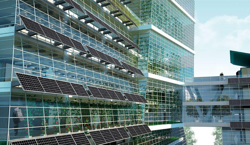 Tata Power Solar Dell India Build Vertical Solar Farm