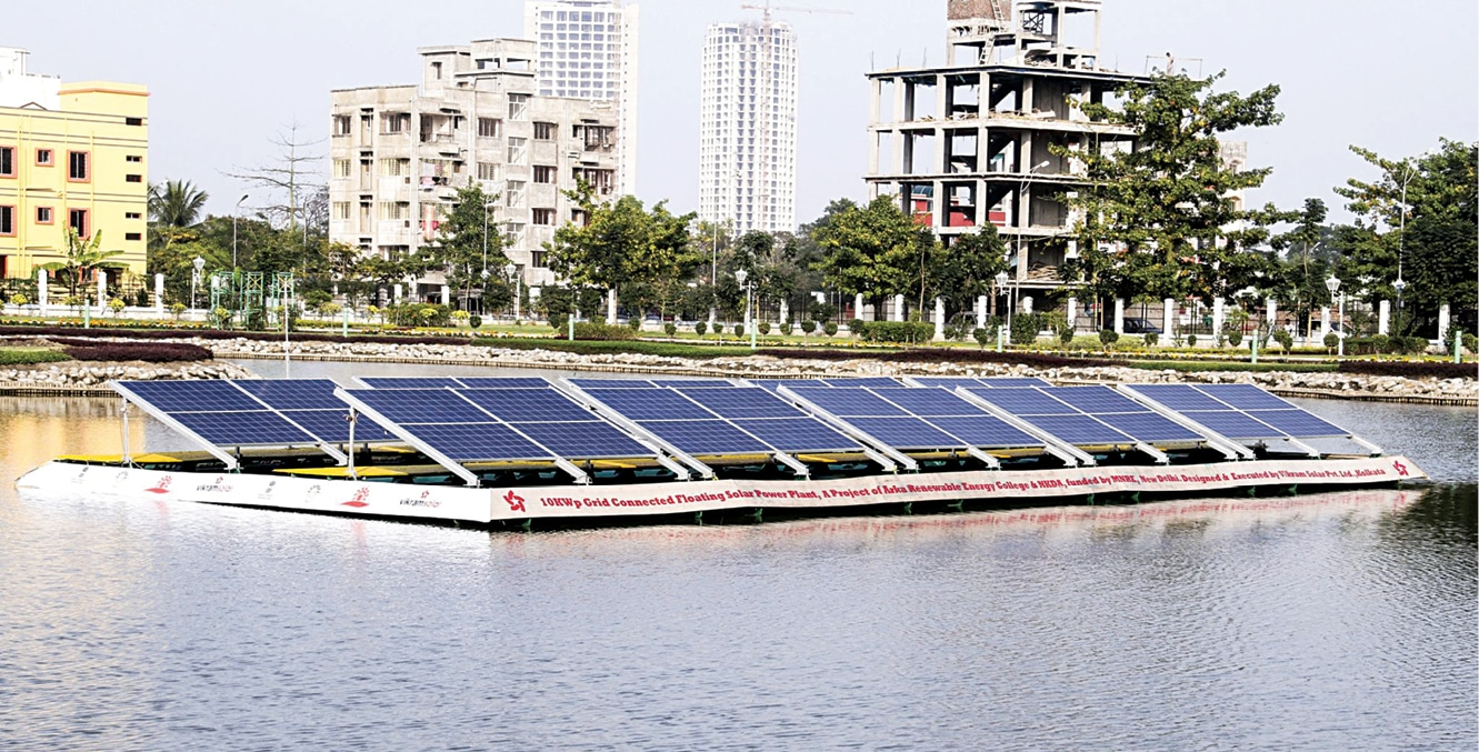 Floating solar power in India (Credit: www.vikramsolar.com)
