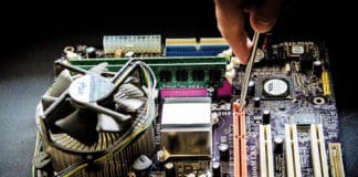 Mother-board-electronic-components