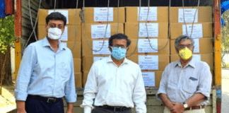 Legrand India Team with Ration Kits