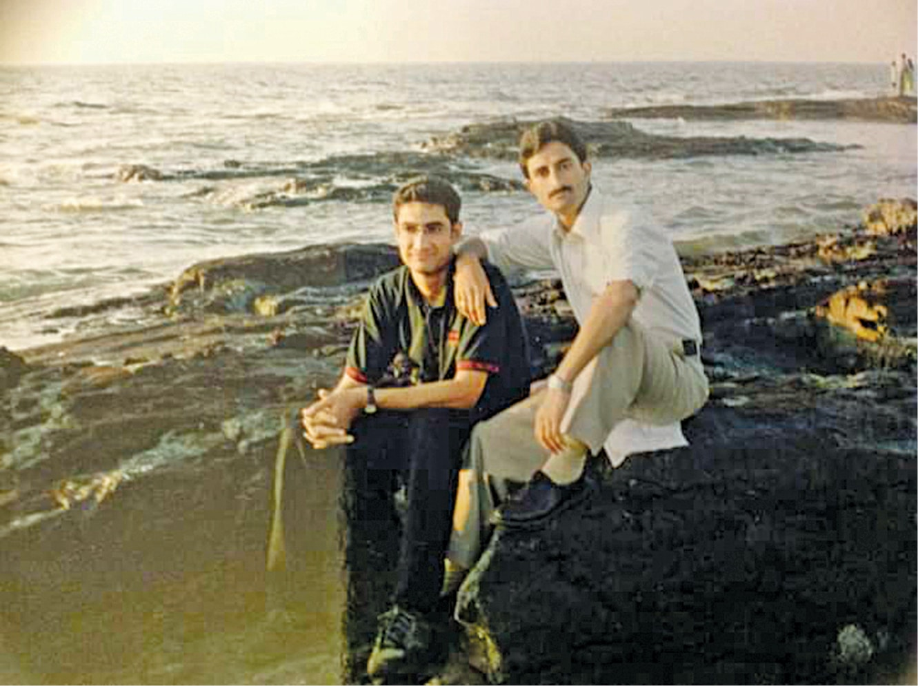 Sunil Raina with elder brother Anil Raina