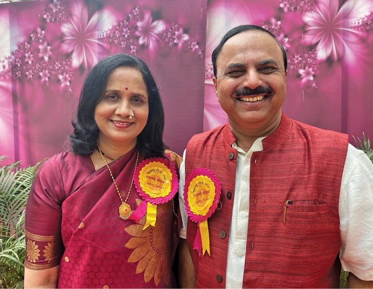 Sanjeev Keskar with wife Sangita